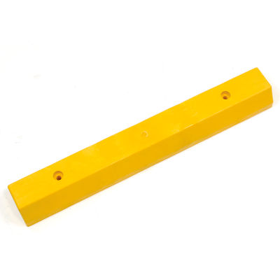 "Parking Curb/Parking Block, Recycled Plastic, Yellow, Concrete Installation 36""L x 5-3/4""W x 3-1/2""H"