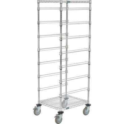 """Global Industrial™ 21""""L x 24""""W x 69""""H Chrome Wire Cart - 7 Level"""
