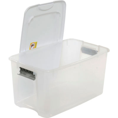 Sterilite 19889804 Clear Storage Tote With Lid 70 Quart 26-1/8x16-1/4x13-1/2 - Pkg Qty 4