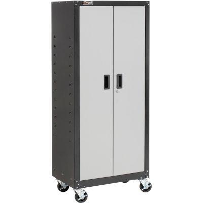 Homak Tall Mobile Cabinet GS00765021 2 Door With 4 Shelves