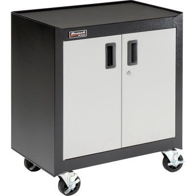 Homak Mobile Cabinet GS04002270 2 Door With Gliding Shelf