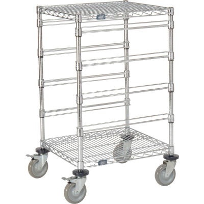 """Global Industrial™ 21""""L x 24""""W x 40""""H H Chrome Wire Cart - 4 Level"""