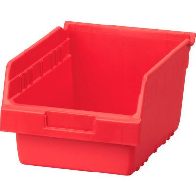 """Akro-Mils ShelfMax® Plastic Nesting Storage Shelf Bin 30080 - 8-3/8""""W x 11-5/8""""D x 6""""H Red - Pkg Qty 8"""