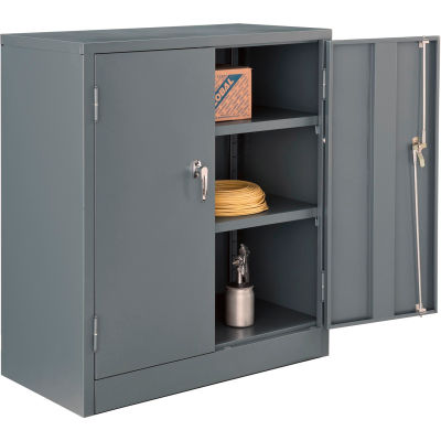 Global Industrial™ Counter Height Cabinet Easy Assembly 36x18x42 Gray