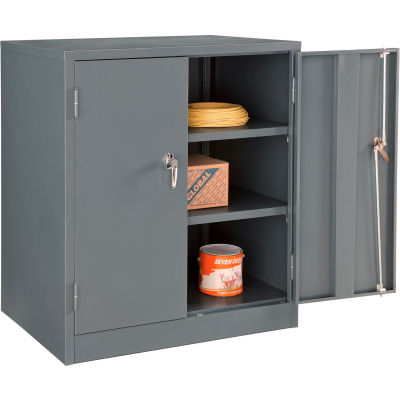 Global Industrial™ Counter Height Cabinet Assembled 36x24x42 Gray