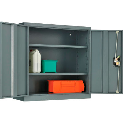"Global Industrial™ Wall Storage Cabinet Assembled 30""W x 12""D x 30""H Gray"