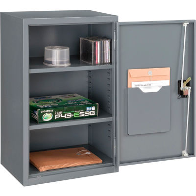"Global Industrial™ Wall Storage Cabinet Assembled 19-7/8""W x 14-1/4""D x 32-3/4""H Gray"