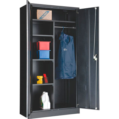 "Global Industrial™ Combination Cabinet Assembled 36""W x 18""D x 72""H Black"