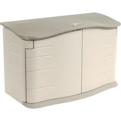 "Rubbermaid Horizontal Storage Shed FG374801OLVSS, 4'7""W X 2'4""D X 3'H"