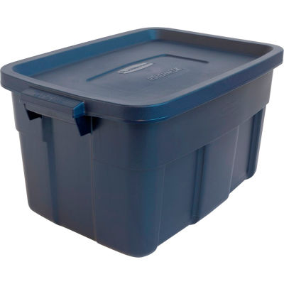United Solutions Roughneck Tote 14 Gallon 23-7/8 x 15-7/8 x 12-1/4 Dark Indigo Metallic - Pkg Qty 6