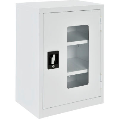 """Global™ Clear View Wall Storage Cabinet Assembled 18""""W x 12""""D x 26""""H Off White"""