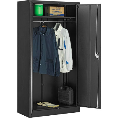 Global Industrial™ Wardrobe Cabinet Easy Assembly 36x18x72 Black