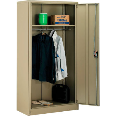 Global Industrial™ Wardrobe Cabinet Easy Assembly 36x18x72 Tan