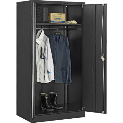 Global Industrial™ Wardrobe Cabinet Assembled 36x24x72 Black