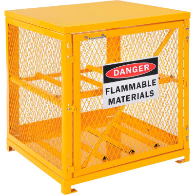 Global Industrial™ Horizontal Cylinder Storage Cabinet W/ SGL Door, 4 Cylinder Capacity