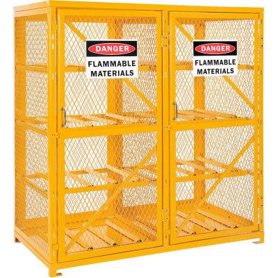 Global Industrial™ Cylinder Storage Cabinet DBL Door Horizontal, 16 Cylinder Capacity