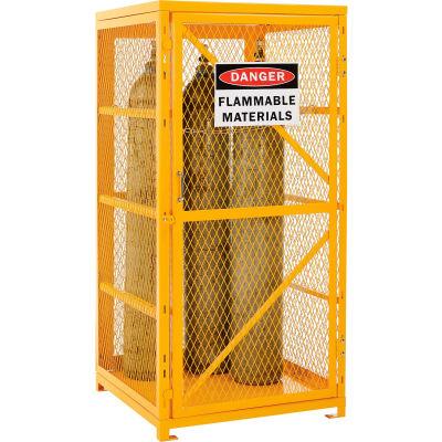 Global Industrial™ Cylinder Storage Cabinet SGL Door Vertical 9 Cylinder Capacity Assembled