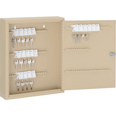 Global Industrial™ Key Cabinet - 110 Keys, Sand