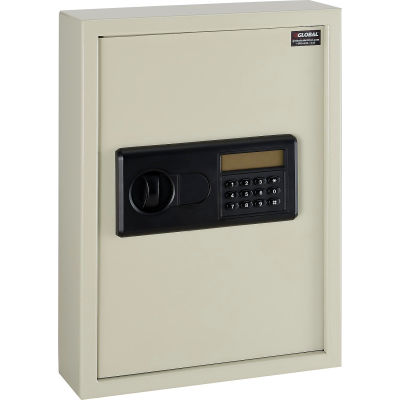 Global Industrial™ Electronic 48 Key Safe Cabinet, Sand