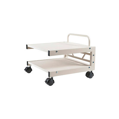 Balt® 27501 Low Profile Mobile Printer Stand, 14''H x 17''W x 17''D, Gray