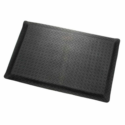 "Apache Mills Diamond Deluxe Soft Foot™ Mat 9/16"" Thick 2' x Up to 75' Black"