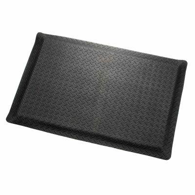 "Apache Mills Diamond Deluxe Soft Foot™ Mat 9/16"" Thick 3' x 75' Black"