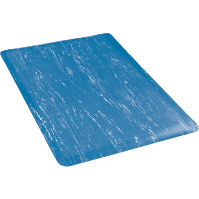"""Apache Mills K-Marble Foot™ Anti-Fatigue Mat 1/2"""" Thick 3' x Up to 60' Blue"""