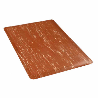 "Apache Mills K-Marble Foot™ Anti-Fatigue Mat 1/2"" Thick 4' x Up to 60' Brown"