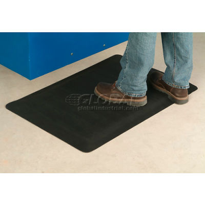 "Apache Mills Invigorator™ Corrugated Safety Mat 1/2"" Thick 2' x Up to 75' Black"