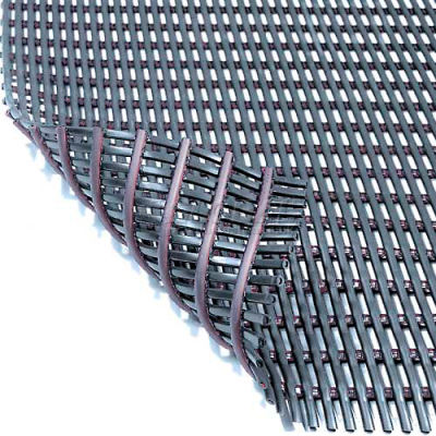 Durable Corporation Grease & Chemical Resistant Drainage Mat 3' x Up to 40' Black