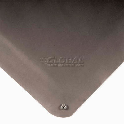 """Wearwell® Electrically Conductive Smooth Mat 9/16"""" Thick 3' x Up to 75' Black"""