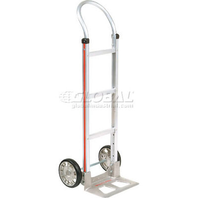 Magliner® Aluminum Hand Truck Curved Handle Mold-On Rubber Wheels