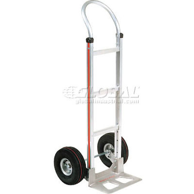 Magliner® Aluminum Hand Truck Curved Handle Pneumatic Wheels