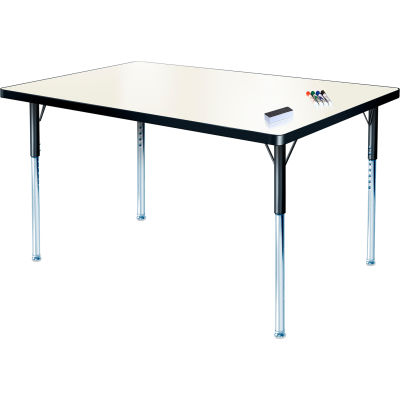 "Whiteboard Activity Table 36"" x 72"" Rectangle, ADA Compliant Adjustable Height"