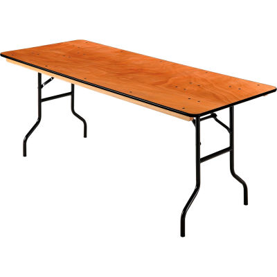 "Interion® Folding Banquet Table - 72"" x 30"" - Plywood"