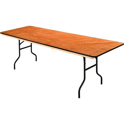 "Interion® Folding Banquet Table - 96"" x 30"" - Plywood"