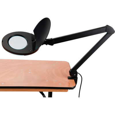 Global Industrial™ 3 Diopter Fluorescent Magnifying Lamp With Covered Metal Arm Black