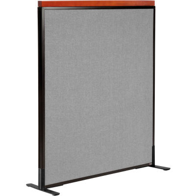 """Interion® Deluxe Freestanding Office Partition Panel, 36-1/4""""W x 43-1/2""""H, Gray"""