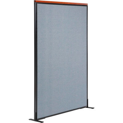 """Interion® Deluxe Freestanding Office Partition Panel, 36-1/4""""W x 61-1/2""""H, Blue"""