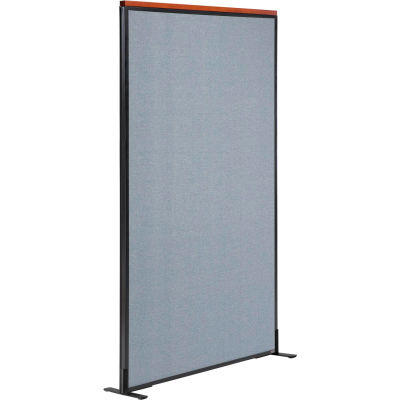 """Interion® Deluxe Freestanding Office Partition Panel, 36-1/4""""W x 73-1/2""""H, Blue"""