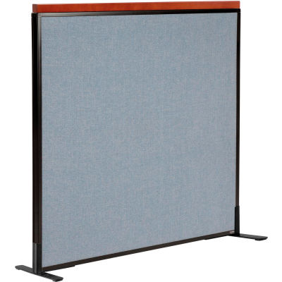 """Interion® Deluxe Freestanding Office Partition Panel, 48-1/4""""W x 43-1/2""""H, Blue"""