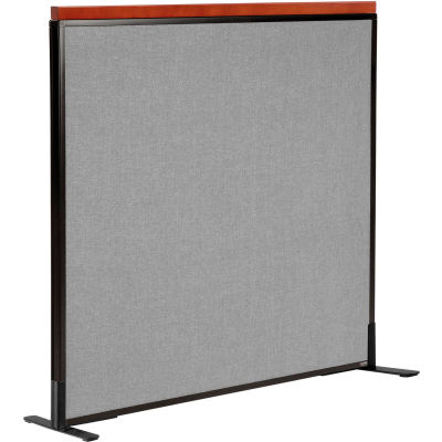 "Interion® Deluxe Freestanding Office Partition Panel, 48-1/4""W x 43-1/2""H, Gray"