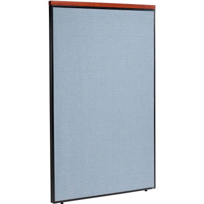 """Interion® Deluxe Office Partition Panel, 48-1/4""""W x 73-1/2""""H, Blue"""