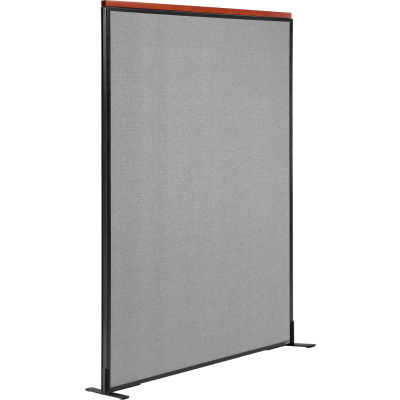 """Interion® Deluxe Freestanding Office Partition Panel, 48-1/4""""W x 73-1/2""""H, Gray"""