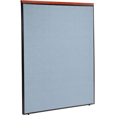 "Interion® Deluxe Office Partition Panel, 60-1/4""W x 73-1/2""H, Blue"
