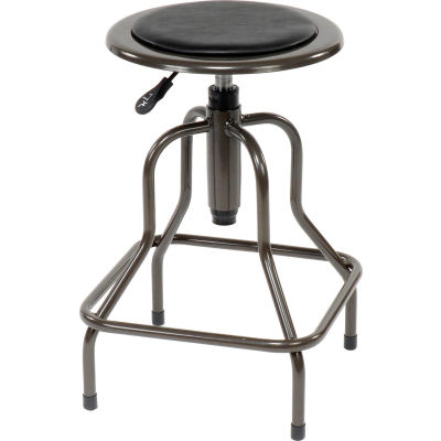 Interion® Industrial Stool - Vinyl - Black