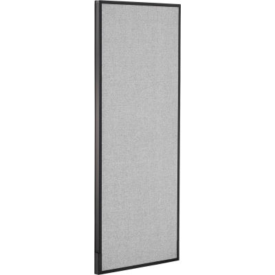 """Interion® Office Partition Panel, 24-1/4""""W x 60""""H, Gray"""