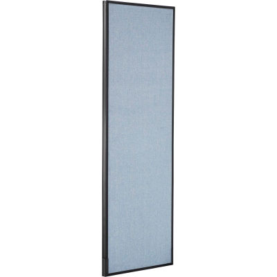 "Interion® Office Partition Panel, 24-1/4""W x 72""H, Blue"
