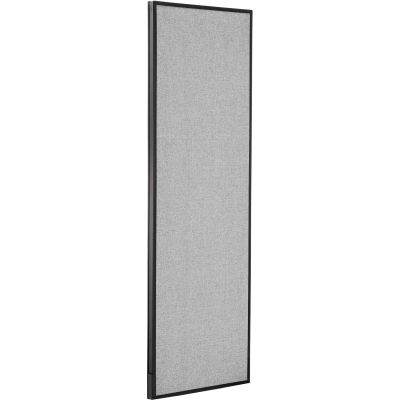 """Interion® Office Partition Panel, 24-1/4""""W x 72""""H, Gray"""