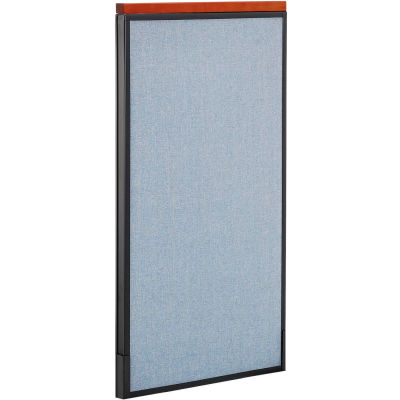 "Interion® Deluxe Office Partition Panel, 24-1/4""W x 43-1/2""H, Blue"